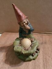 Thomas Clark Gnome with Golf Ball and hidden penny mischievous expression {6