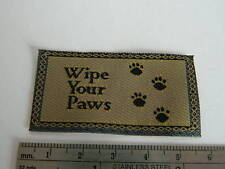 "(M1.29) DOLLS HOUSE ""WIPE YOUR PAWS"" DOORMAT"