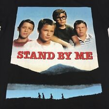 Stand By Me Black Small T-Shirt Movie Wheaton Phoenix Feldman O'Connell