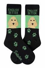 English Setter Crew Socks Unisex Green
