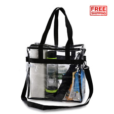 Clear Tote Bags Transparent Plastic Purse Handbags Approved For Stadium Concert