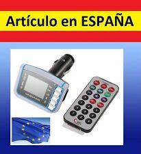 "A Transmisor mp3 mechero coche tarjeta SD LCD 1.8"" mp4 con MANDO reproductor USB"