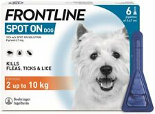 More details for frontline spot on small dog flea & tick treatment 1,2,3,4 & 6 pipettes avm-gsl