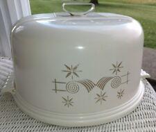 Vintage! Retro Cool Mid Century Lustro-Ware, L-28,Ivory CakeTaker Round, Plastic