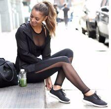 Sexy Leggings Sport Yoga Jeggings Nero Fitness Donna Stretch Gym Pantaloni M L