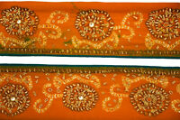 Vintage Indian Embroidered Border, Sari Trim, By 1 Yd Decorative Ribbon,  ST1655