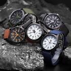 New Mens Military Sports Watch Stainless Steel Analog Army Quartz Wrist Watch Z2