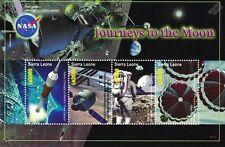 NASA Future Journeys to the Moon Spacecraft Space Stamp Sheet 2006 Sierra Leone