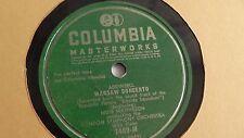 London Symphony Orchestra - 78rpm single 12-inch – Columbia #7409-M