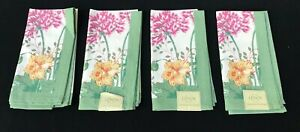 Set of 4 Lenox Butterfly Meadow Sentiments Table Linen Napkins NEW