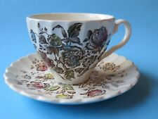 Coffee Cup Tea Mug & Saucer ~*~ STAFFORDSHIRE BOUQUET By Johnson Bros ~ ENGLAND