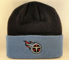 Tennessee Titans NFL Reebok Cuffed Knit Hat Navy Sky Blue