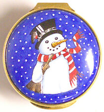 Windsor Park Enamels - Copper Box - Snowman - Made in England