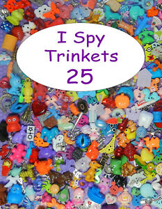 SMALL TRINKETS (25) for I spy bags, I spy bottles, sensory bins, games