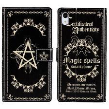Grimoire Magic Book Pentagram Star Wallet Case Cover For Sony Xperia Z2 L50W