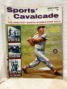 BEAUTIFUL July 1962 Sports Cavalcade Magazine, Ted Williams Cover, VERY NICE!