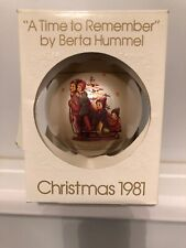 "Schmid Berta Hummel 1981 ""Time To Remember"" Christmas Ball Ornament Nib"