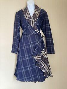 Vivienne Westwood Anglomania Tartan Wrap Dress Size 46 90s 00s Y2K Punk Wedding