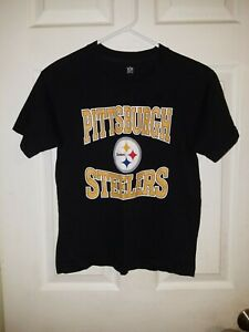 NFL Pittsburgh Steelers Boys Black T-Shirt Size Medium 10-12