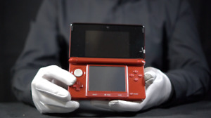 Nintendo 3DS Console Flame Red PAL - 'The Masked Man'