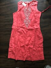Women's Charter Club Coral Dress Size 8 NWT