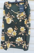 Forever 21 Womens Floral Blouse Size Medium