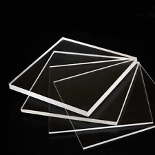 Transparent Acrylic Plexiglass Sheet Replacement Glass 1/8'' x 12'' x 12''