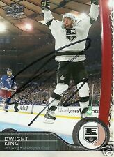 Dwight King Signed Auto 2014-15 Upper Deck Los Angeles Kings Card - COA - NHL