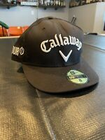 New Era Callaway Golf Fitted Hat Sz 8 Black Cap Rogue Epic Mavrik