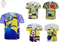 Minions Universal Pictures Funny Animated Movie 3D Print T-Shirt Men Women S-7XL