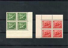 Island, Iceland, Mi.-Nr. 215B + 216B im Eckrandviererblock, 4er Ecken postfrisch