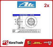 2x 24-0126-0156-1 ATE OE QUALITY BRAKE DISC SET