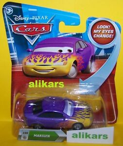 "Look ""B - MARILYN - #155 Disney Cars vehicle toy serie Lenticular Eyes Change"
