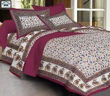 100% Cotton Jaipuri King Size Double Bedsheet with 2 Pillow