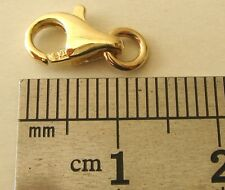 10 mm GENUINE 9K 9ct  SOLID GOLD PARROT LOBSTER CLASP with JUMP RING