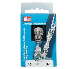 Chiusura con cerniera fine 51 cm 20  10 PESO GRANDE dispositivo di scorrimento in metallo NERO a trama grossa HEAVY DUTY Abbigliamento e accessori