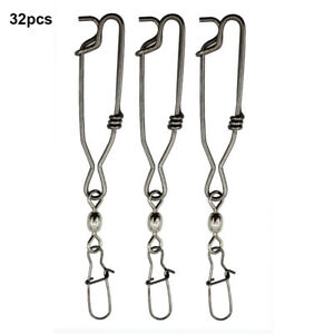 Stainless Steel Long Line Clip Snap with Crane Swivel & Duo Lock Nice Snap Acces