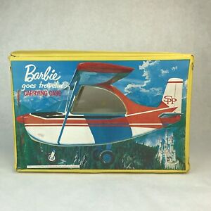 Vintage 1965 Barbie Goes Traveling Carrying Case Yellow Plane Car Storage