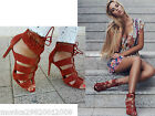 ZARA BRICK LEATHER BRAIDED HIGH HEEL SANDALS SHOES SIZE 37 38 39 40