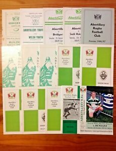 Abertillery Rugby Programmes 1959 - 2008