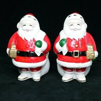 Vintage National Potteries Co. Santa Claus Salt & Pepper Shakers Christmas Japan