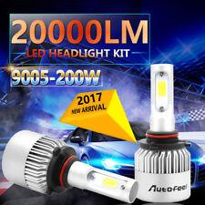 9005 H10 9145 9140 HB3 200W 20000LM LED Headlight Kit Bulbs High/low Beam 6500K