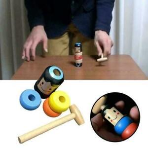 1set Immortal Daruma Unbreakable Wooden Man Magic Toy Fun Toy Accessory HG