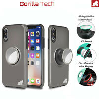 Armor magnetic car mount Case for iPhone 11 Pro Max /11 Pro /11 /XS Max /XR /X