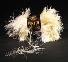 LION Brand Fun Fur Eyelash Yarn Lot of 17 Skeins Light Ivory - New