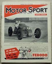 MOTOR SPORT Magazine Dec 1938 AUSTIN SEVEN TUNING Lea Francis 14 HP