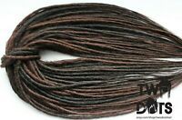Brown Mix Synthetic Dreads, SE & DE Dreads 20 Inches Natural Rasta Burning Man