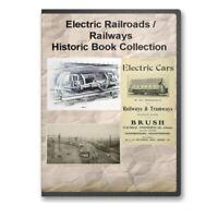 Electric Railroads / Railways - 31 Historic Train Tram Books on CD - D291