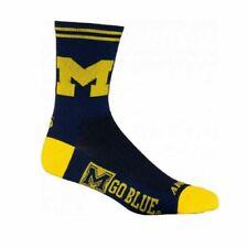 "University of Michigan crew length-5"" Multi Purpose Cycling  Socks"