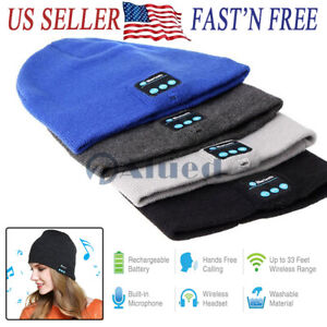Wireless Bluetooth Headset Beanie Hat Music Headphones Earphone Cap Man /Women